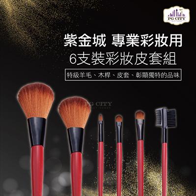 專業彩妝用 6支裝彩妝套組 E306-PG CITY
