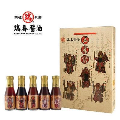 瑞春.五虎醬禮盒(5瓶/盒,共六盒30瓶)
