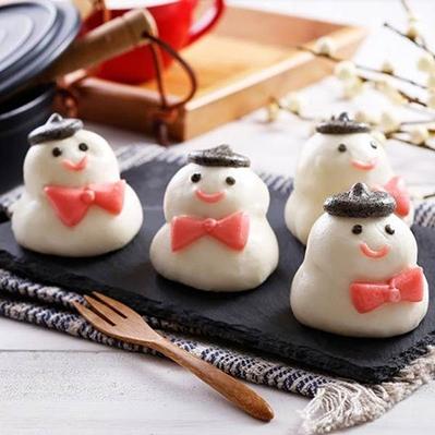 禎祥食品.雪人甜包(地瓜餡)(10粒/包,共三包)