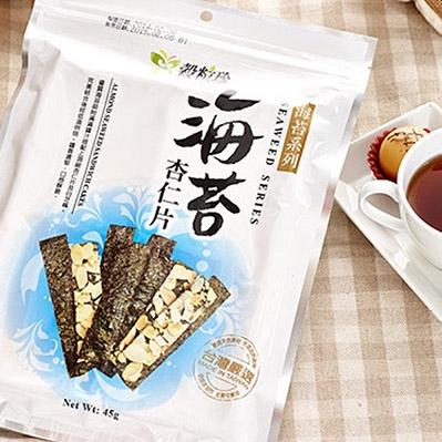 穀粒珍.海苔杏仁片 (40g/包,共兩包)