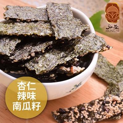 弘益傳香世家.海苔脆片-杏仁+辣味+南瓜子(40g/包,共三包)