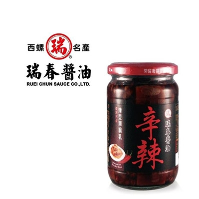 瑞春.辛辣豆腐乳(380g/罐,共6罐)