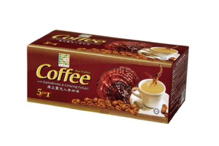 零售價$400/盒【靈芝人參咖啡】(20 小包/盒) 精選高品質的阿拉比卡咖啡豆、人參和靈芝的精華◎可提神醒腦,是平日或休閒時營養補給的好伙伴◎