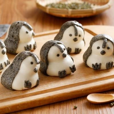 禎祥食品.企鵝甜包(綠豆)(10粒/包,共三包)