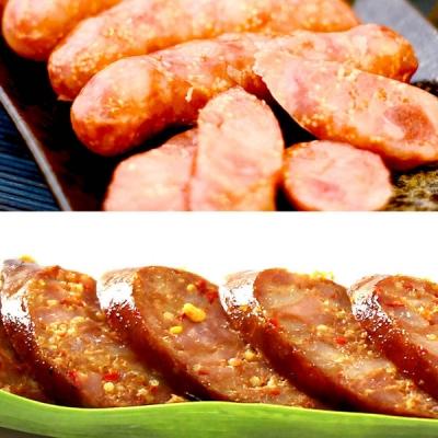 阿里棒棒.腸腸久久禮盒B (哇沙米飛魚卵香腸x1+麻辣飛魚卵香腸x1)