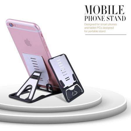 超薄可攜卡片平板手機架-3入