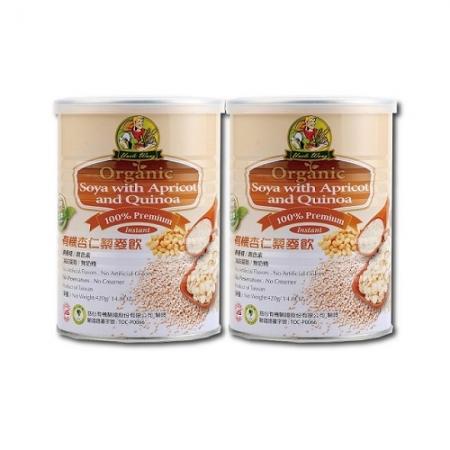 【禾園生技 旺伯有機】有機杏仁藜麥飲(420g/罐)x2罐