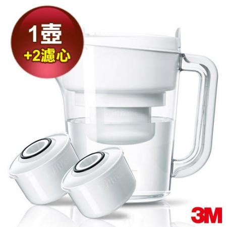 【3M】即淨長效濾水壺(1壺+2濾心)