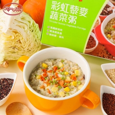 呷七碗.彩虹藜麥蔬菜粥(40g*5入/盒,共兩盒)