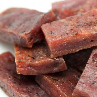 金梓食品.黑胡椒厚片肉乾(340g/包,共兩包)