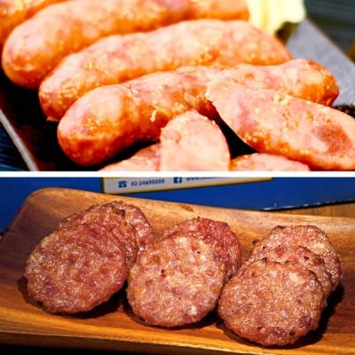 阿里棒棒.香肉禮盒 (哇沙米飛魚卵香腸x1+啵啵肉乾x1)