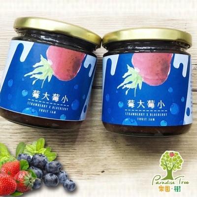 樂園樹.莓大莓小-無農藥草莓藍莓雙果醬(共兩瓶)