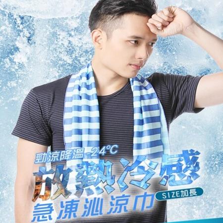台灣製加長版瞬間急凍涼感巾-2入