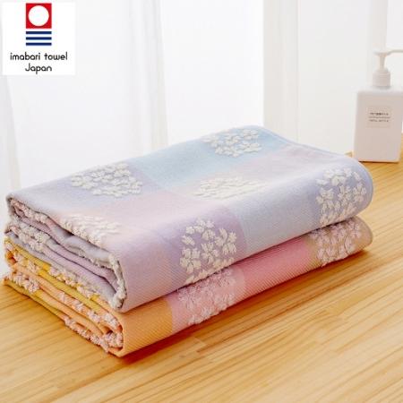 日本銷售第一100%純棉今治認證櫻花系列浴巾