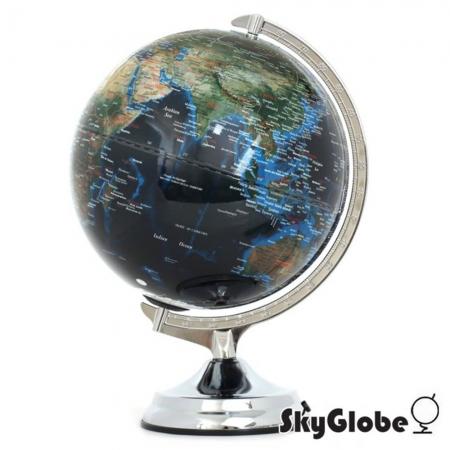 【SkyGlobe】12吋地形海溝人口分佈地球儀(英文版)(附燈)