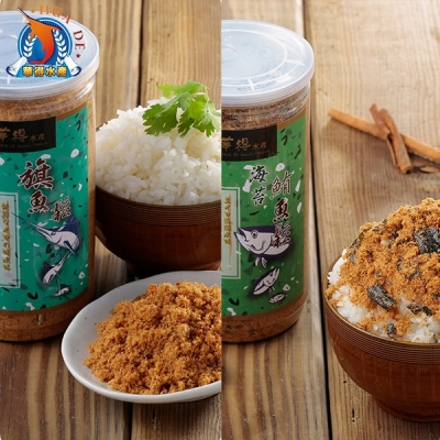 東港華得.魚鬆禮盒-旗魚*2+鮪魚*2 (300g/罐,共4罐)