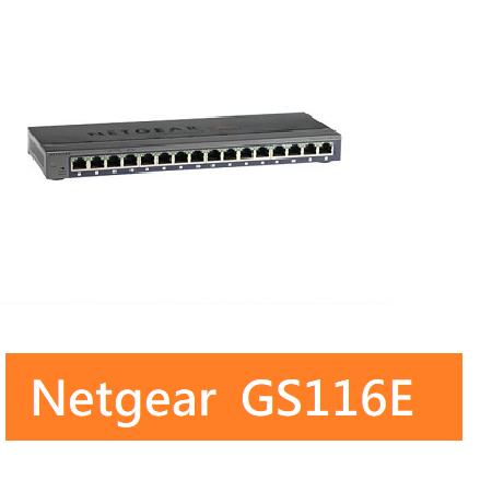 NETGEAR GS116E 16埠Giga簡易網管型交換器