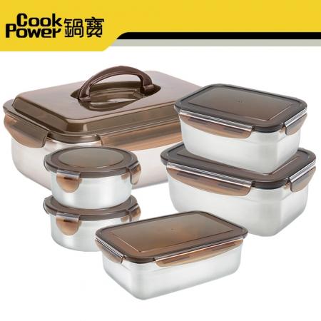 《鍋寶》316不銹鋼保鮮盒家庭超值6入組