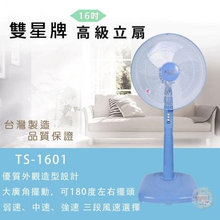 買大送小【雙星】16吋立扇TS-1601(送雙星14吋風扇TS-1489*1)