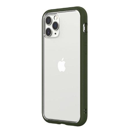 〔美式賣場〕犀牛盾 iPhone 11 Pro Mod NX 手機殼+耐衝擊正面保護貼 軍綠