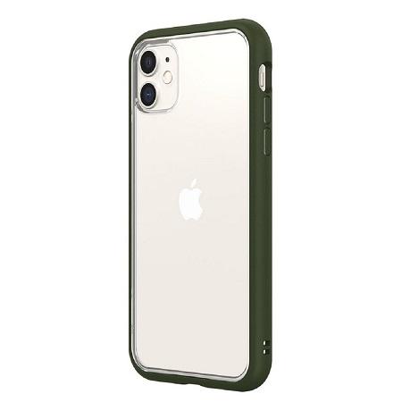 〔美式賣場〕犀牛盾 iPhone 11 Mod NX 手機殼+耐衝擊正面保護貼 軍綠