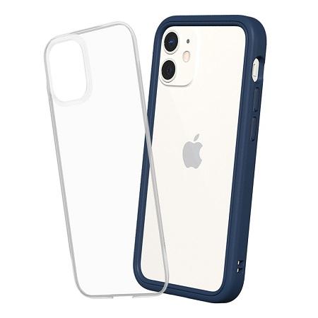 〔美式賣場〕犀牛盾 iPhone 12 mini Mod NX 手機殼+9H 3D滿版玻璃保護貼 海軍藍
