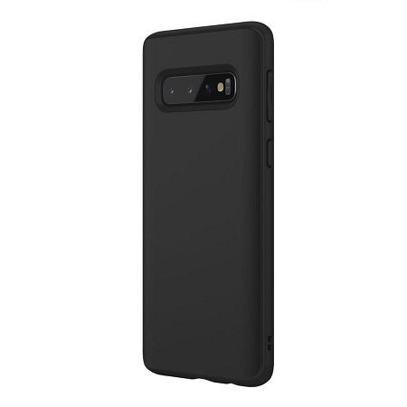 〔美式賣場〕犀牛盾Samsung Galaxy S10 4G SolidSuit防摔手機殼+滿版衝擊曲面正面保護貼黑
