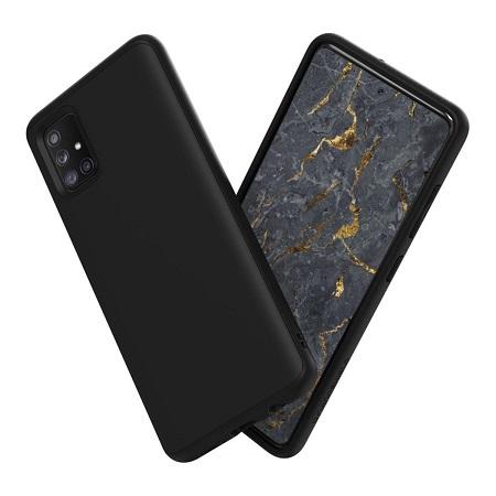 〔美式賣場〕犀牛盾 Samsung Galaxy A51 4G SolidSuit 防摔手機殼+3D滿版玻璃保護貼 黑