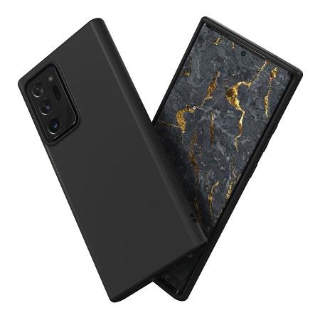 〔美式賣場〕犀牛盾 Samsung Galaxy Note 20 Ultra SolidSuit 防摔手機殼+滿版衝擊曲面正面保護貼 黑