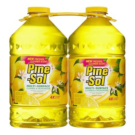 〔美式賣場〕Pine-Sol 多用途清潔劑 檸檬芳香 2.95公升 X 2入
