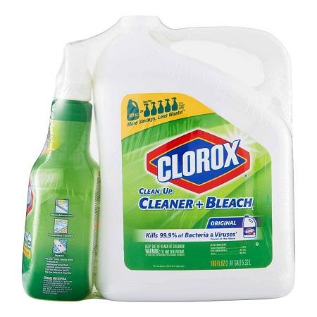 〔美式賣場〕Clorox 高樂氏 漂白清潔劑 噴槍瓶 946毫升 + 補充瓶 5.32公升