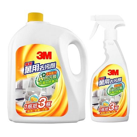 〔美式賣場〕3M 魔利 萬用去污劑 500毫升 + 補充瓶3785毫升