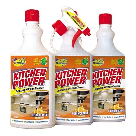 〔美式賣場〕OzKleen 廚房清潔劑 清新橙香 750毫升 X 3入