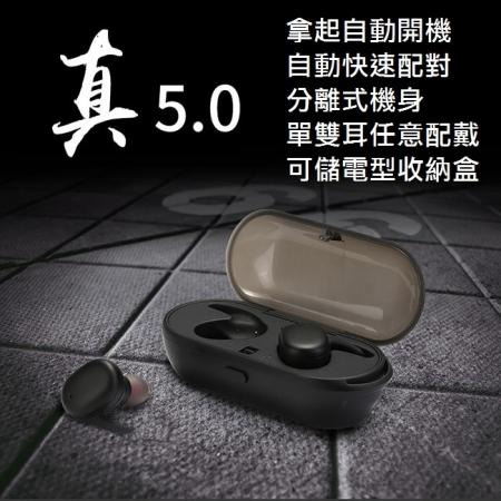 雙耳式觸控可通話運動5.0版藍牙耳機