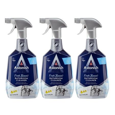 〔美式賣場〕Astonish 英國潔 抑菌除污浴廁清潔劑 750毫升 X 3入