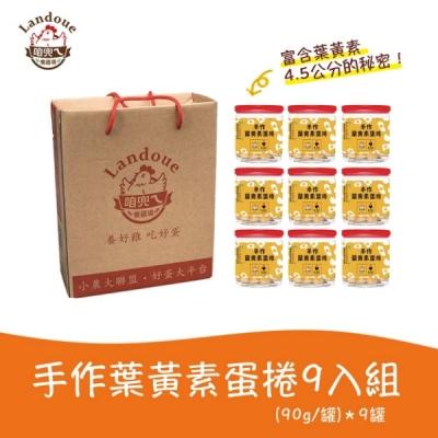 咱兜ㄟ養雞場.手作葉黃素蛋捲9入組禮盒(90gx9罐)