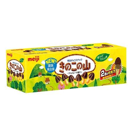 〔美式賣場〕明治香菇造型巧克力餅乾 74公克 X 6入