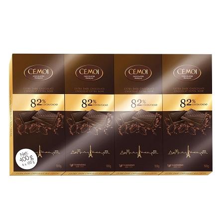 〔美式賣場〕CÉMOI 82% 黑巧克力 100公克 X 4入