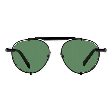 【美式賣場】Ferragamo 太陽眼鏡 SF197S 001(Black-Green)