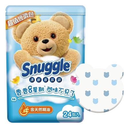 〔美式賣場〕Snuggle 熊寶貝 清新香氛袋 清新晨露香 7公克 X 24入