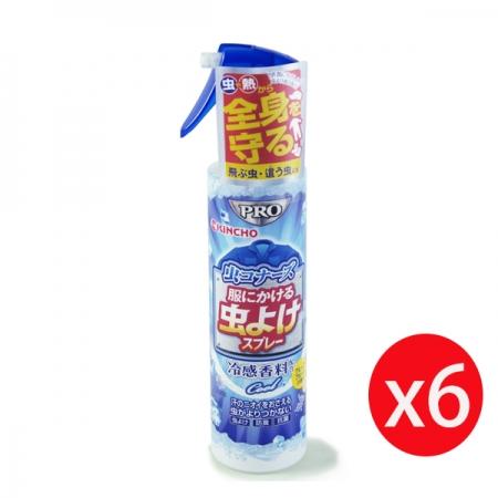 日本 KINCHO 金鳥 衣類專用涼感消臭驅蚊噴霧 200ml*6瓶