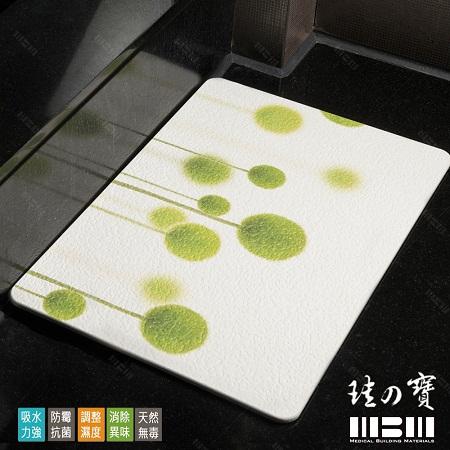 【MBM】台灣製12mm水洗式珪藻土彩繪地墊-尺寸:L