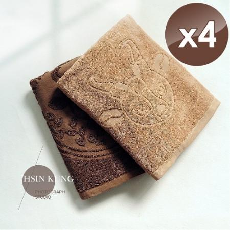 【HKIL-巾專家】MIT獨家專利技術咖啡紗浴巾-4入組