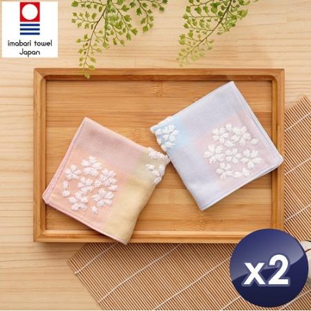 【藤高今治】日本銷售第一100%純棉今治認證櫻花系列方巾-2入組