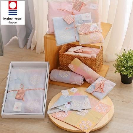 【藤高今治】日本銷售第一100%純棉今治認證櫻花系列禮盒組