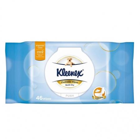 〔美式賣場〕Kleenex 舒潔 濕式衛生紙 46張 X 32入