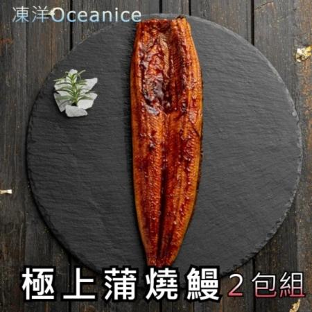 【凍洋Oceanice】極上蒲燒鰻 2入組 (200g±10%/包,共2包)