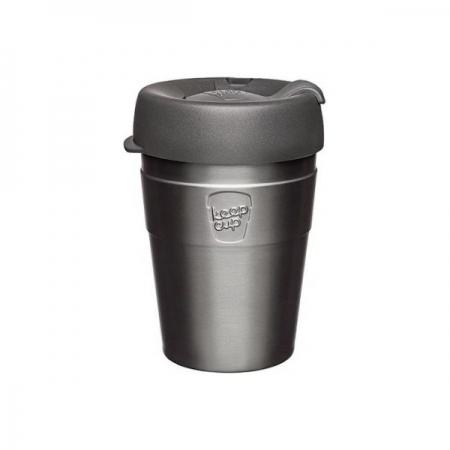 【KeepCup】雙層真空隨身杯340ml(12oz) M - 鎧甲銀