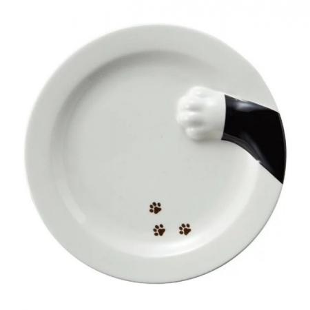 【sunart】日本sunart 餐盤 - 黑貓偷食 趣味 送禮 可愛 貓咪系列