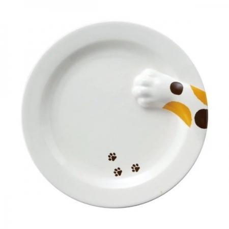【sunart】日本sunart 餐盤 - 三花貓偷食 趣味 送禮 可愛 貓咪系列